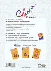Chispa 1ere annee 96 tp - 4ème de couverture - Format classique
