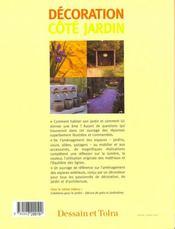 Decoration Cote Jardin - 4ème de couverture - Format classique