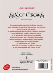 Six of crows T.2 ; la cité corrompue - 4ème de couverture - Format classique