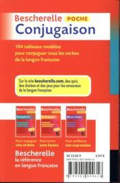 Bescherelle ; poche conjugaison - 4ème de couverture - Format classique