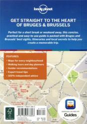 Bruges & Brussels pocket (4e édition) - 4ème de couverture - Format classique
