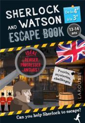 Sherlock and Watson ; escape book ; 4e, 3e - Couverture - Format classique