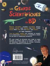 Les grands scientifiques en BD - 4ème de couverture - Format classique