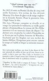 Napoléon t.4 ; l'immortel de Sainte Hélène - 4ème de couverture - Format classique