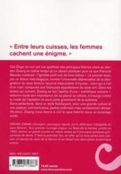 Éloge du con ; défense et illustration du sexe féminin - 4ème de couverture - Format classique