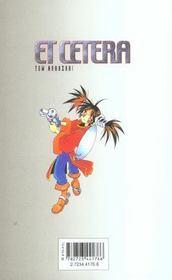 Et cetera t.1 - 4ème de couverture - Format classique