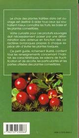 Fruits baies et plantes comestibles - 4ème de couverture - Format classique