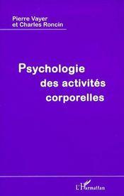 Psychologie des activités corporelles - Couverture - Format classique