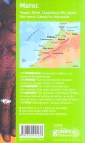 Geoguide ; Maroc - 4ème de couverture - Format classique