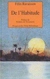 De L'Habitude - Intérieur - Format classique