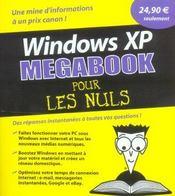 Windows xp megabook pour les nuls - Intérieur - Format classique