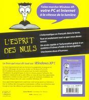 Windows xp megabook pour les nuls - 4ème de couverture - Format classique