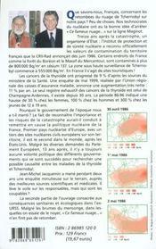 Ce Fameux Nuage...Tchernobyl La France Contaminee - 4ème de couverture - Format classique