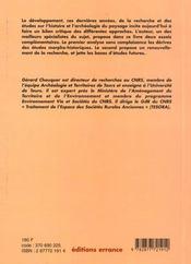 L'Etude Des Paysages ; Essai Sur L'Histoire Et Les Formes De Nos Campagnes - 4ème de couverture - Format classique