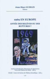 1969 en Europe - Couverture - Format classique