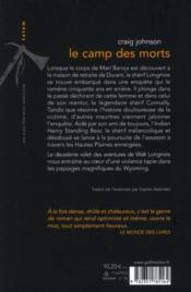 Le Camp Des Morts - 4ème de couverture - Format classique