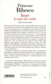 Isvor ; le pays des saules - 4ème de couverture - Format classique