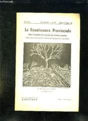 La Renaissance Provinciale N° 127 Juillet Aout Septembre 1959. Le Mirabellier En Hiver Par Pierre Adiran. - Couverture - Format classique