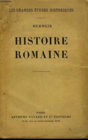 Histoire Romaine. - Couverture - Format classique