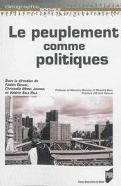 Le peuplement comme politiques - Couverture - Format classique