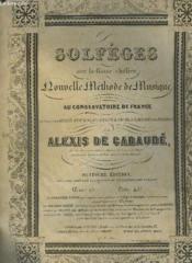 Solfeges Avec La Basse Chiffree, Nouvelle Methode De Musique En Usage Au Conservatoire De France. - Couverture - Format classique