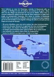 Guatemala Et Belize : Guide De Voyage - 4ème de couverture - Format classique