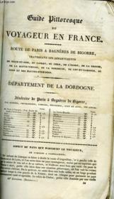 Guide Pittoresque U Voyageur En France - Departement De La Dordogne - Couverture - Format classique