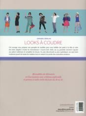 Looks à coudre ; 25 modèles et accessoires mixed & matched pour chaque jour de la semaine - 4ème de couverture - Format classique
