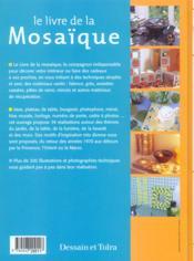 Le Livre De La Mosaique - 4ème de couverture - Format classique