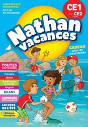 NATHAN VACANCES ; toutes les matières ; du CE1 vers le CE2 ; 7/8 ans (édition 2018) - Couverture - Format classique