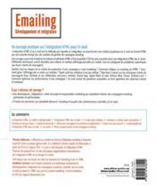 Emailing : développement et intégration ; #responsive #html #css - 4ème de couverture - Format classique