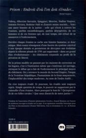 Les grandes évasions de l'Histoire ; de Casanova à Antonio Ferrara - 4ème de couverture - Format classique