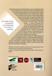 Les labels dans le domaine du patrimoine culturel et naturel - 4ème de couverture - Format classique