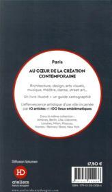 Paris ; au coeur de la création contemporaine - 4ème de couverture - Format classique