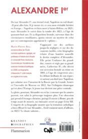 Alexandre Ier, le tsar qui vainquit Napoléon - 4ème de couverture - Format classique