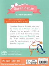 Sarah danse T.11 ; le ballet de l'amitié - 4ème de couverture - Format classique