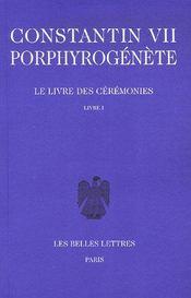 Le livre des cérémonies t.1 ; livres 1 à 46 - Intérieur - Format classique