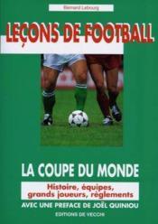 Lecon De Football : La Coupe Du Monde 98 - Couverture - Format classique