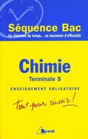 Chimie terminale s ; enseignement obligatoire - Intérieur - Format classique
