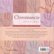 Chiromancie pratique ; lecture des lignes de la main - 4ème de couverture - Format classique