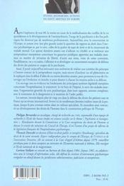 Psychiatrie, droits de l'homme et defense des usagers en europe - 4ème de couverture - Format classique