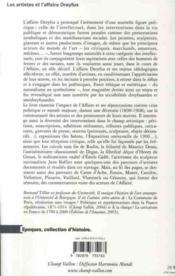 Les artistes et l'affaire Dreyfus (1898-1908) - 4ème de couverture - Format classique