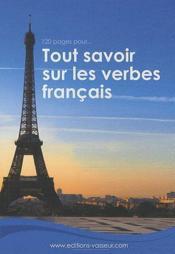 120 pages pour... ; tout savoir sur les verbes français - Couverture - Format classique