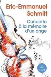 Concerto à la mémoire d'un ange - Couverture - Format classique