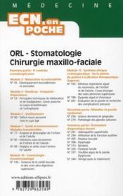 Orl Stomatologie Chirurgie Maxillo-Faciale Tout Le Programme En Fiches L'Essentiel En Format Poche - 4ème de couverture - Format classique