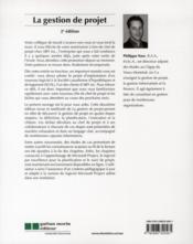 La gestion de projet (2e édition) - 4ème de couverture - Format classique