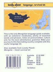 Mongolian phrasebook 1 - 4ème de couverture - Format classique