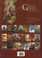 La geste des chevaliers dragons T.20 ; naissance d'un empire - 4ème de couverture - Format classique