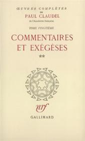 Oeuvres complètes t.20 - Couverture - Format classique