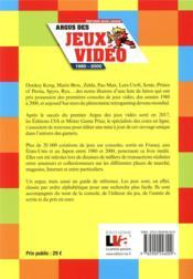 Argus des jeux vidéo 1980-2000 (2e édition) - 4ème de couverture - Format classique
